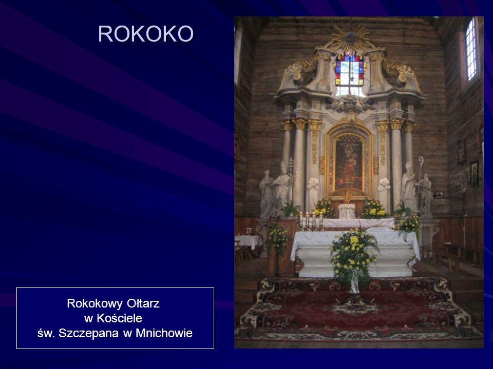 Rokokowy Ołtarz w Kościele św. Szczepana w Mnichowie ROKOKO