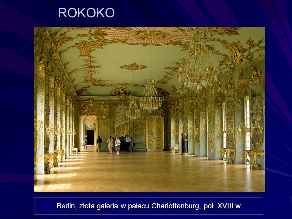 ROKOKO Berlin, złota galeria w pałacu Charlottenburg, poł. XVIII w