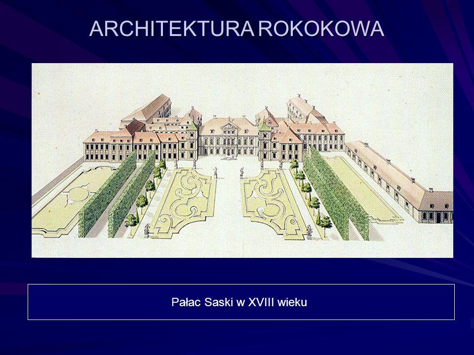 ARCHITEKTURA ROKOKOWA Pałac Saski w XVIII wieku