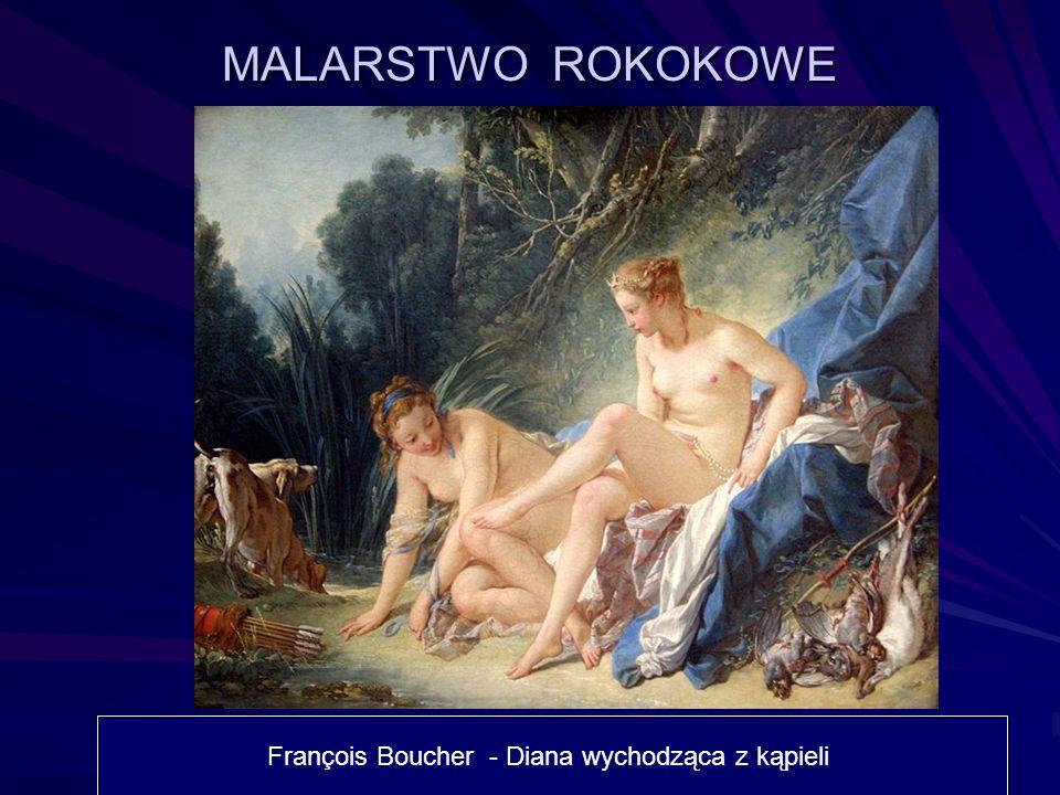François Boucher - Diana wychodząca z kąpieli MALARSTWO ROKOKOWE
