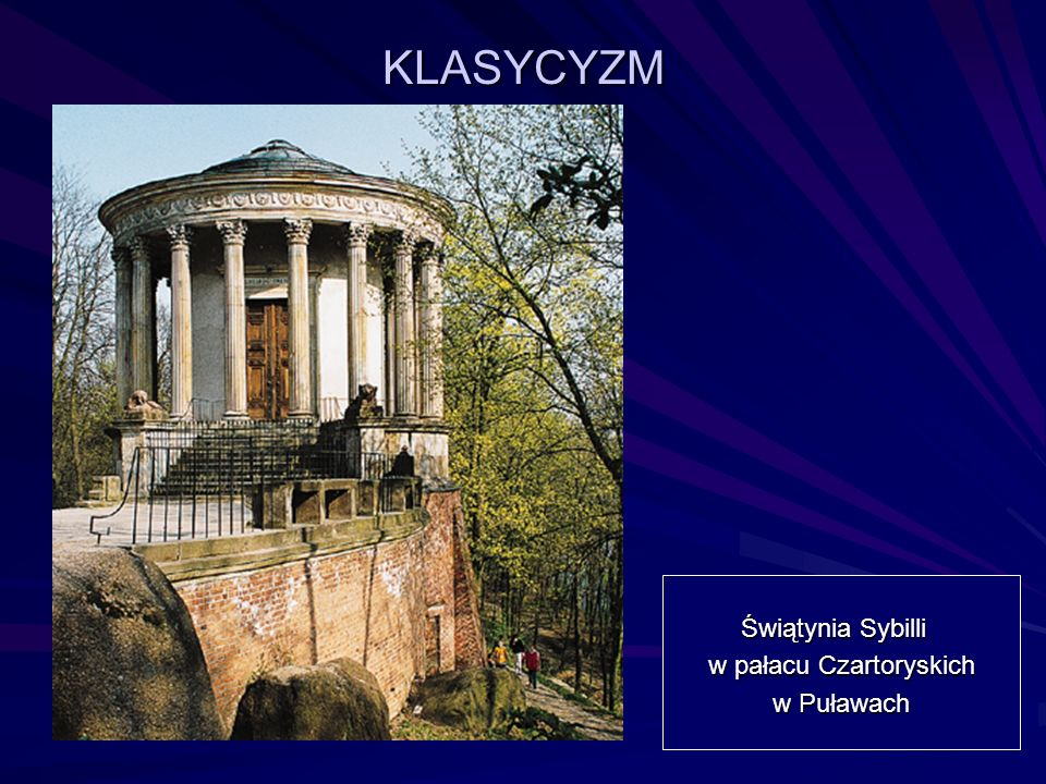 KLASYCYZM Świątynia Sybilli w pałacu Czartoryskich w Puławach w Puławach