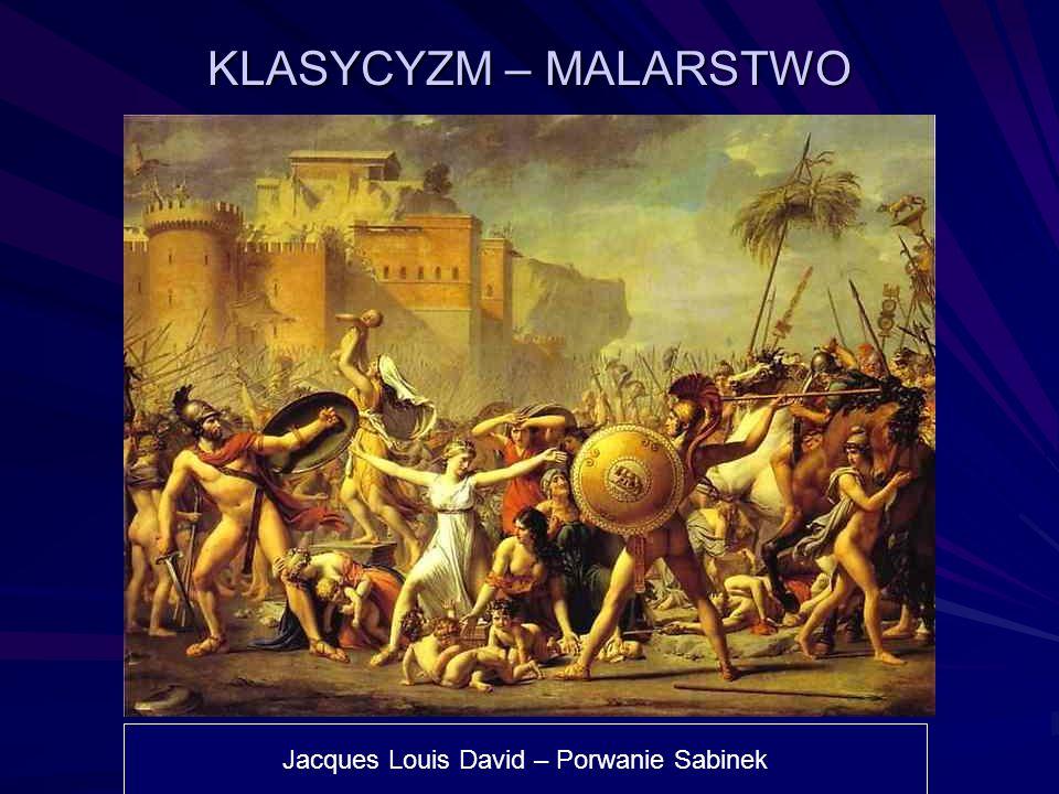KLASYCYZM – MALARSTWO Jacques Louis David – Porwanie Sabinek