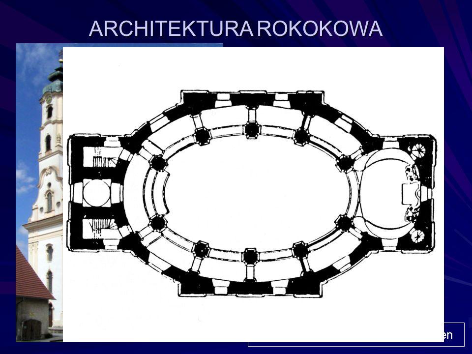 ARCHITEKTURA ROKOKOWA Pałacyk Vaux-le-Vicomte - projekt Louisa Le Vau, ogród André Le Nôtre