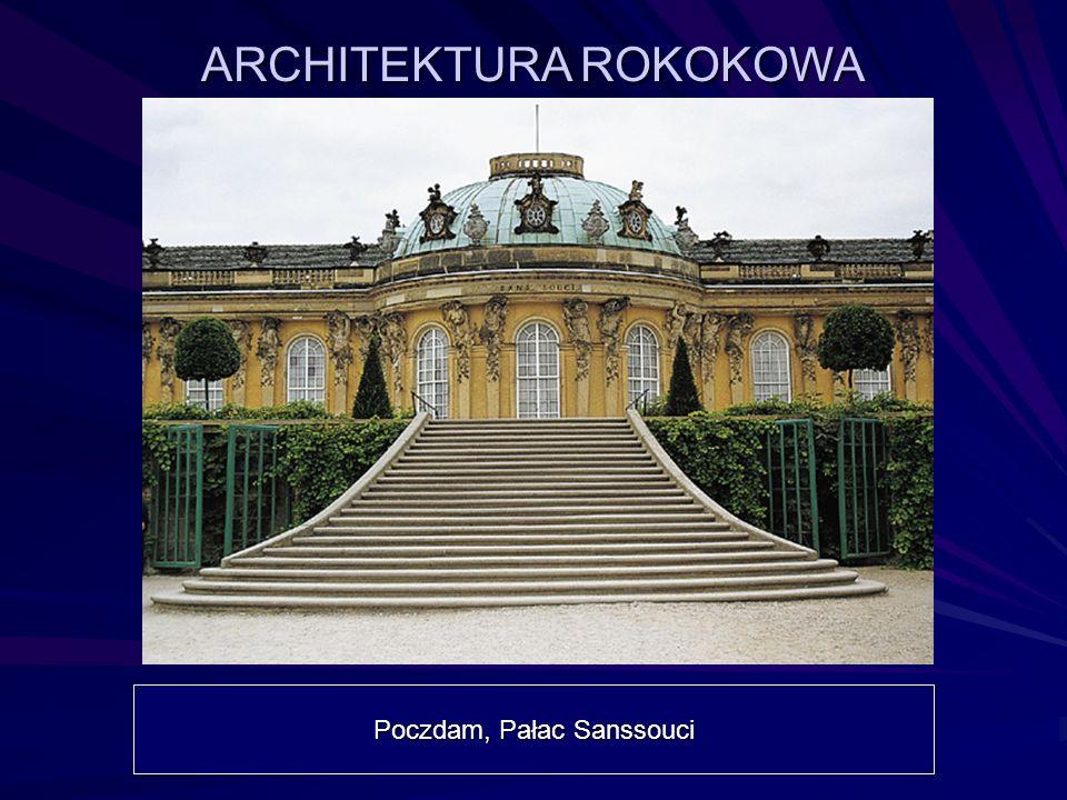 ARCHITEKTURA ROKOKOWA Poczdam, Pałac Sanssouci