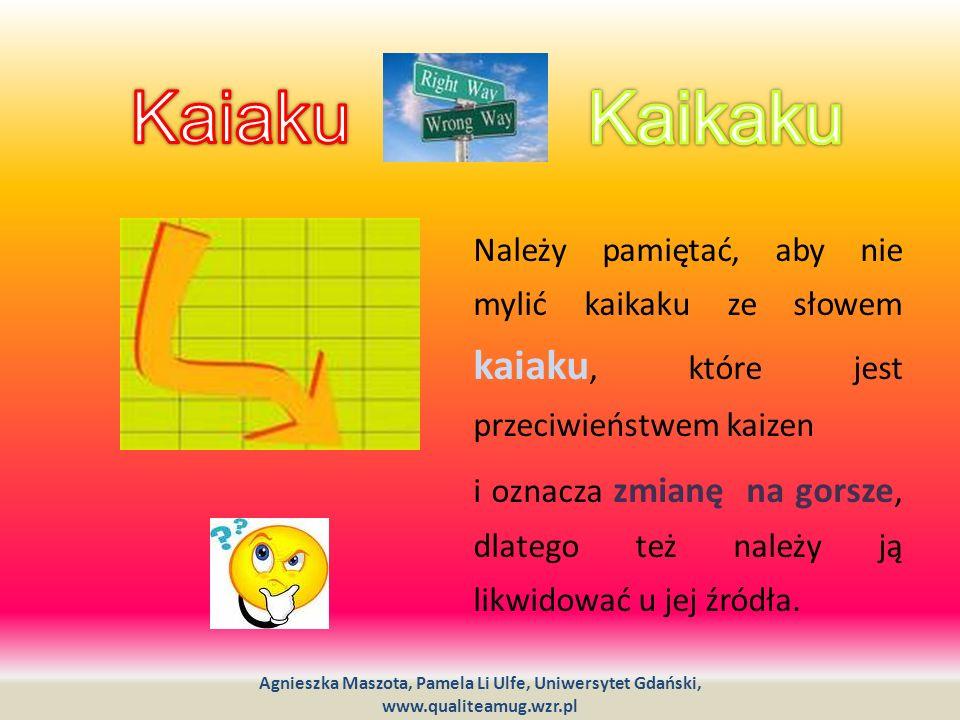 Należy pamiętać, aby nie mylić kaikaku ze słowem kaiaku, które jest przeciwieństwem kaizen i oznacza zmianę na gorsze, dlatego też należy ją likwidowa