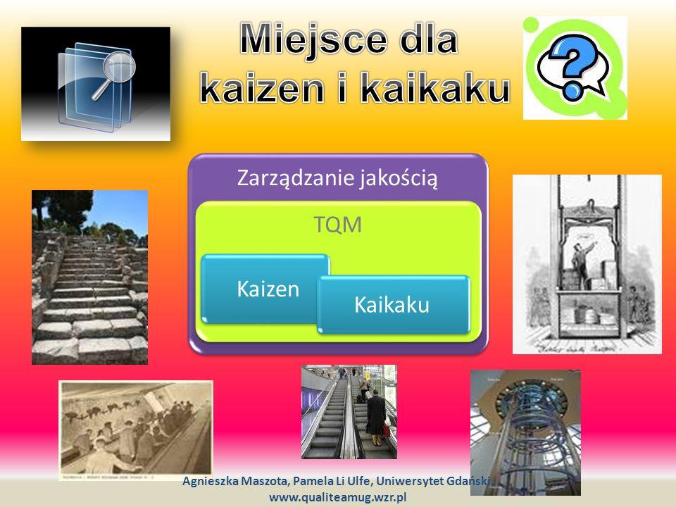Zarządzanie jakością TQM Kaizen Kaikaku Agnieszka Maszota, Pamela Li Ulfe, Uniwersytet Gdański, www.qualiteamug.wzr.pl