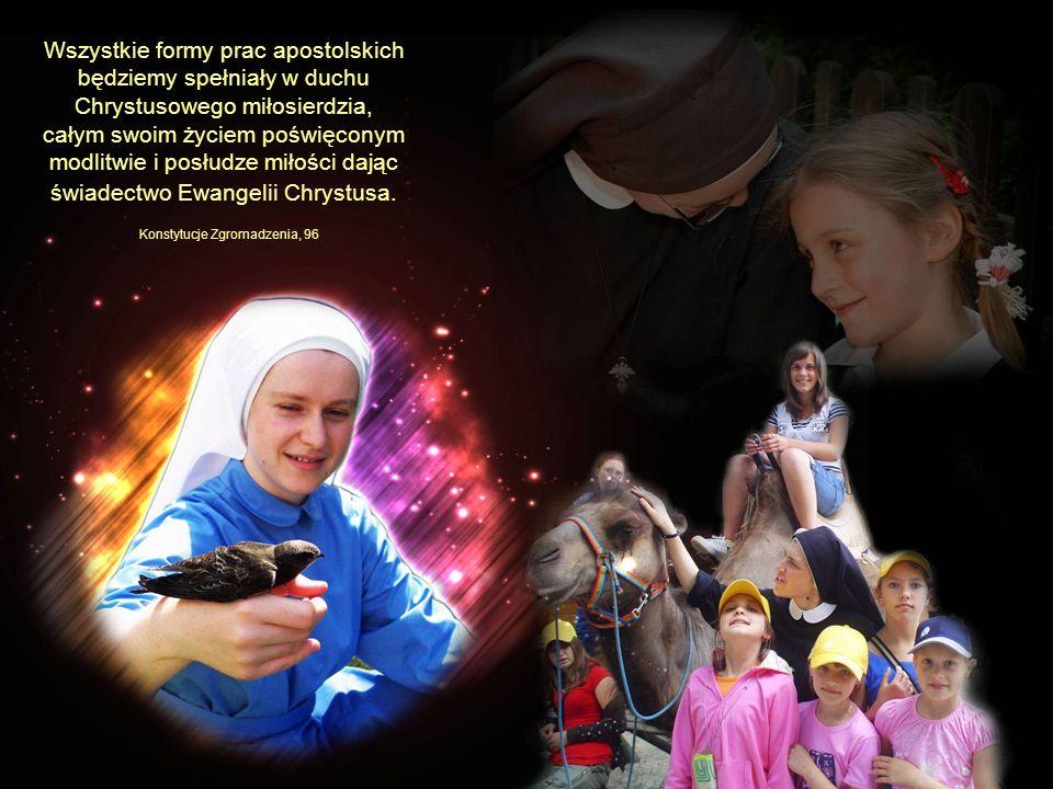 Wszystkie formy prac apostolskich będziemy spełniały w duchu Chrystusowego miłosierdzia, całym swoim życiem poświęconym modlitwie i posłudze miłości d