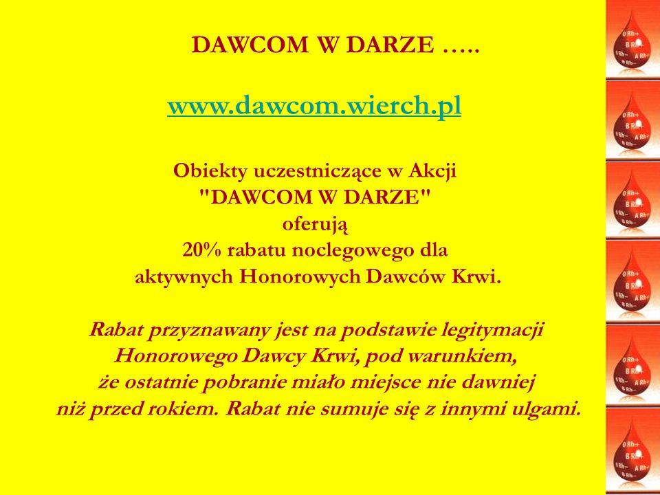 www.dawcom.wierch.pl Obiekty uczestniczące w Akcji