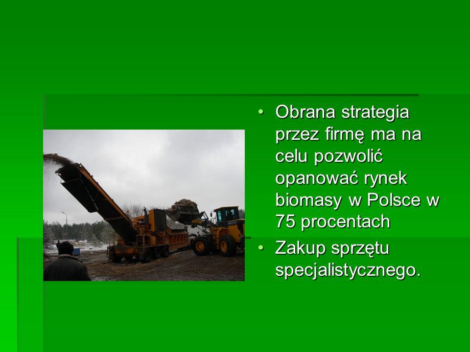 Obrana strategia przez firmę ma na celu pozwolić opanować rynek biomasy w Polsce w 75 procentachObrana strategia przez firmę ma na celu pozwolić opano