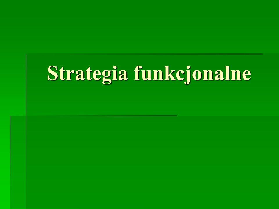 Strategia funkcjonalne