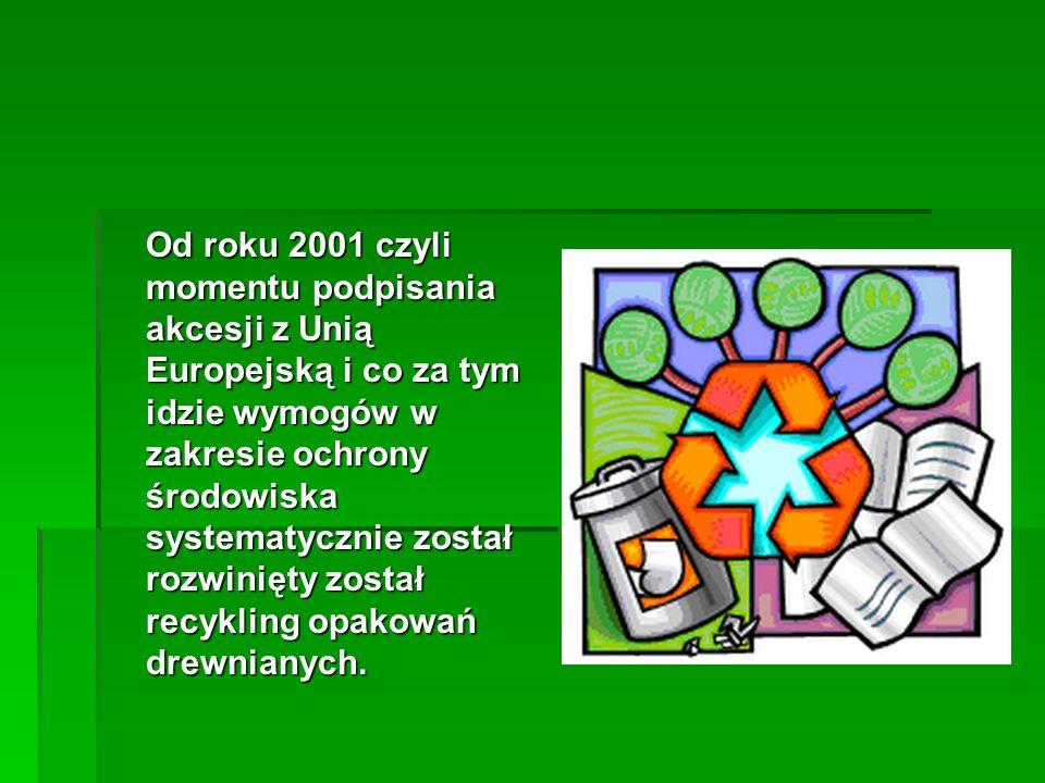Od 2001 roku recykling opakowań drewnianych stał się podstawową formą działalności na rynku polskim, firma posiada stosowne uprawnienia do prowadzenia tego typu produkcji.