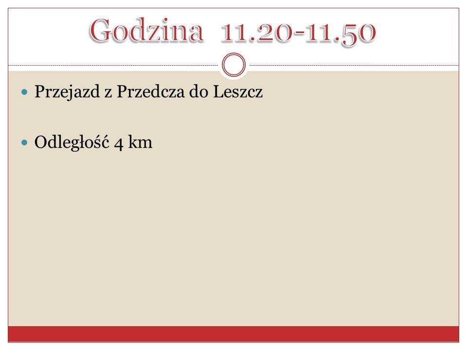 Przejazd z Przedcza do Leszcz Odległość 4 km