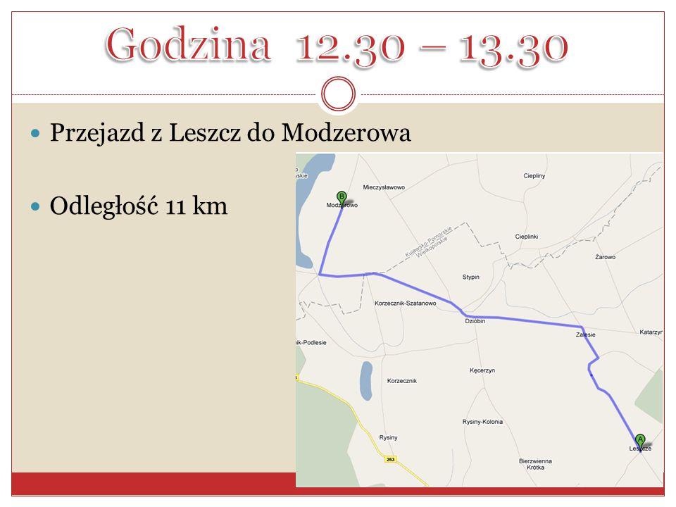 Przejazd z Leszcz do Modzerowa Odległość 11 km