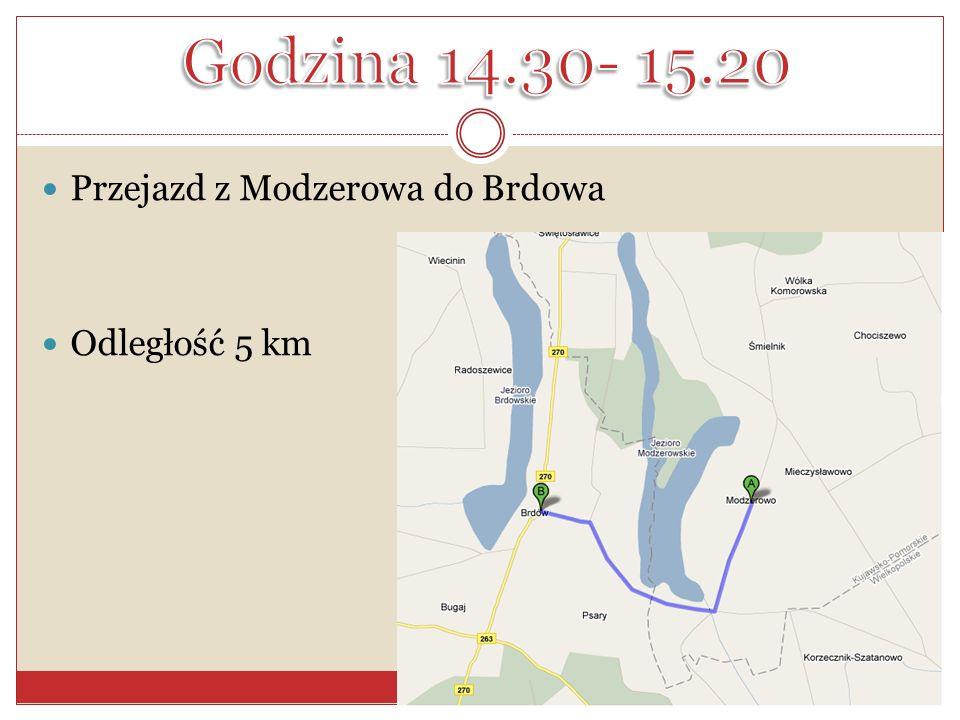Przejazd z Modzerowa do Brdowa Odległość 5 km