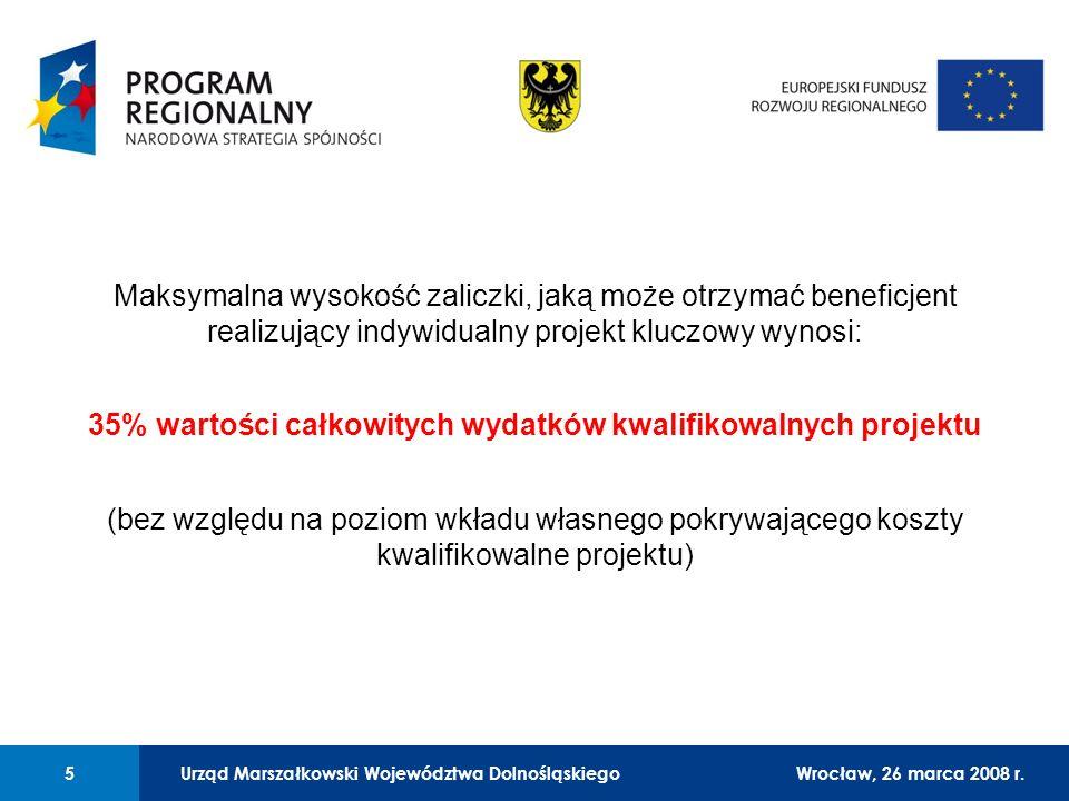 Urząd Marszałkowski Województwa Dolnośląskiego27 lutego 2008 r. 5 01 Urząd Marszałkowski Województwa Dolnośląskiego5Wrocław, 26 marca 2008 r. Maksymal