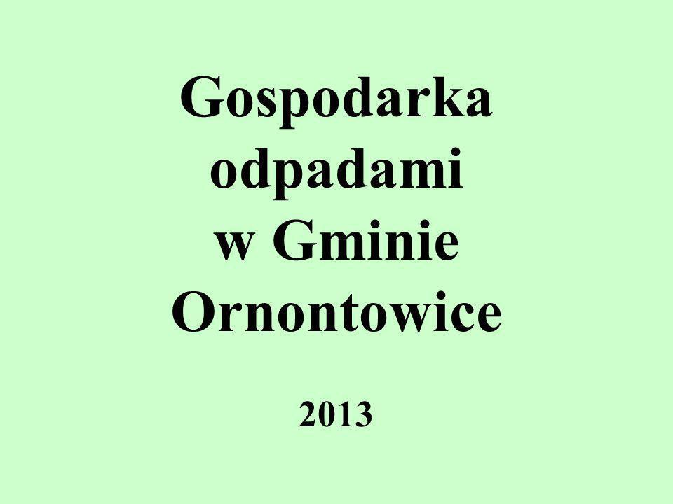 Gospodarka odpadami w Gminie Ornontowice 2013