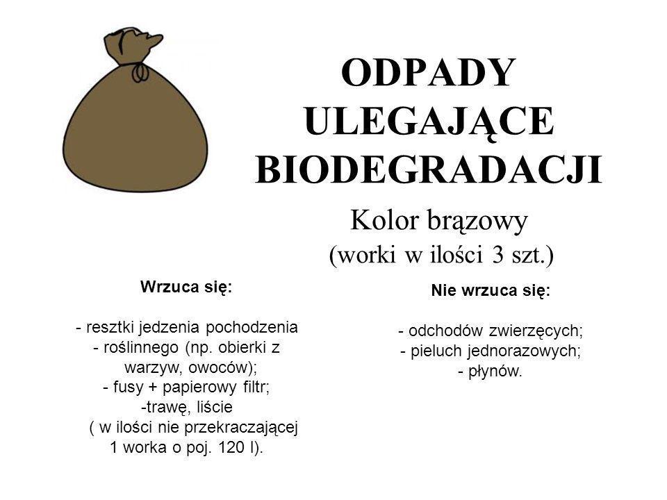 Odpady zmieszane, niesegregowane, pozostałe nie objęte segregacją oraz resztki jedzenia pochodzenia zwierzęcego (np.