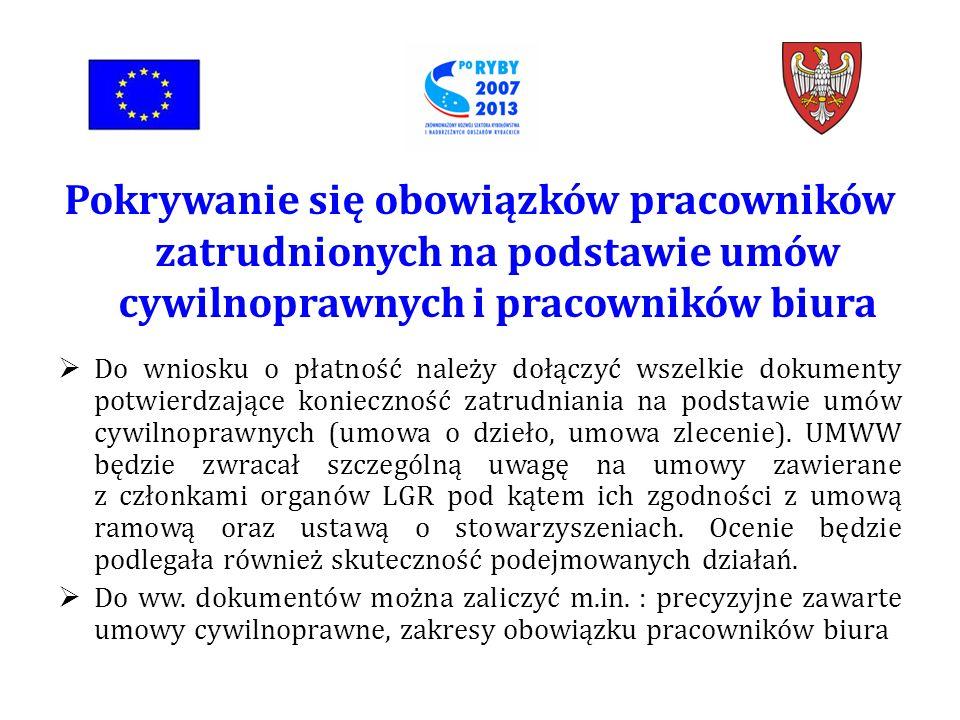 Do wniosku o płatność należy dołączyć wszelkie dokumenty potwierdzające konieczność zatrudniania na podstawie umów cywilnoprawnych (umowa o dzieło, umowa zlecenie).