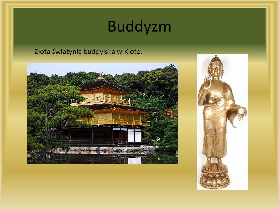 Buddyzm Złota świątynia buddyjska w Kioto.