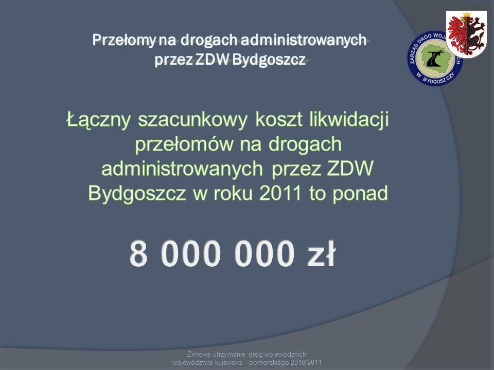 Zimowe utrzymanie dróg wojewódzkich województwa kujawsko - pomorskiego 2010/2011