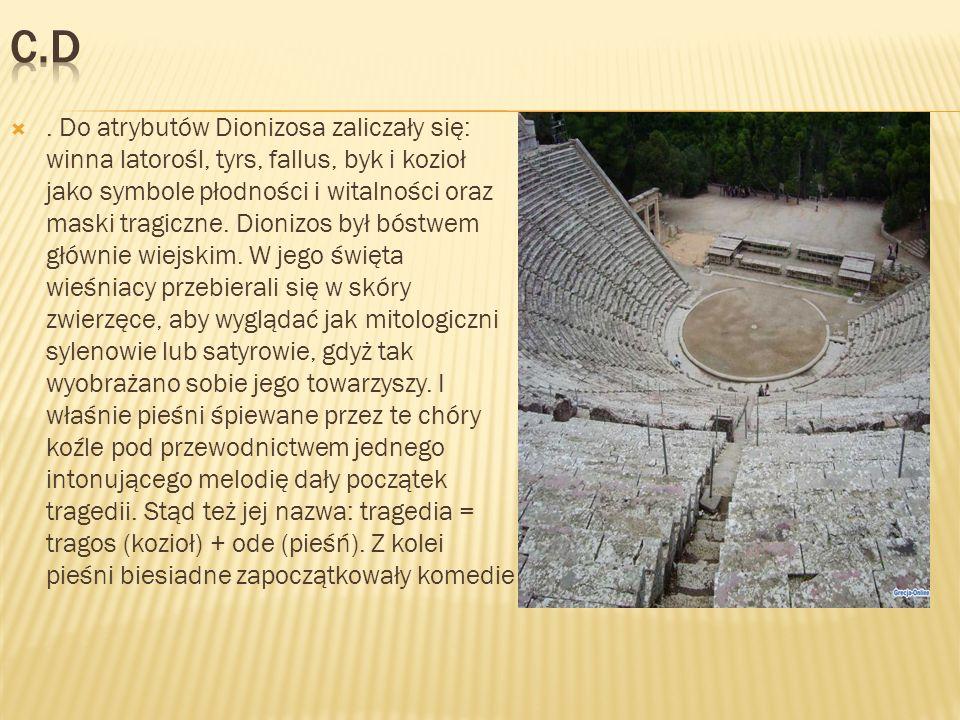 U południowego stoku Akropolu, w świętym okręgu Dionizosa Pizystrat zbudował świątynię tego boga.