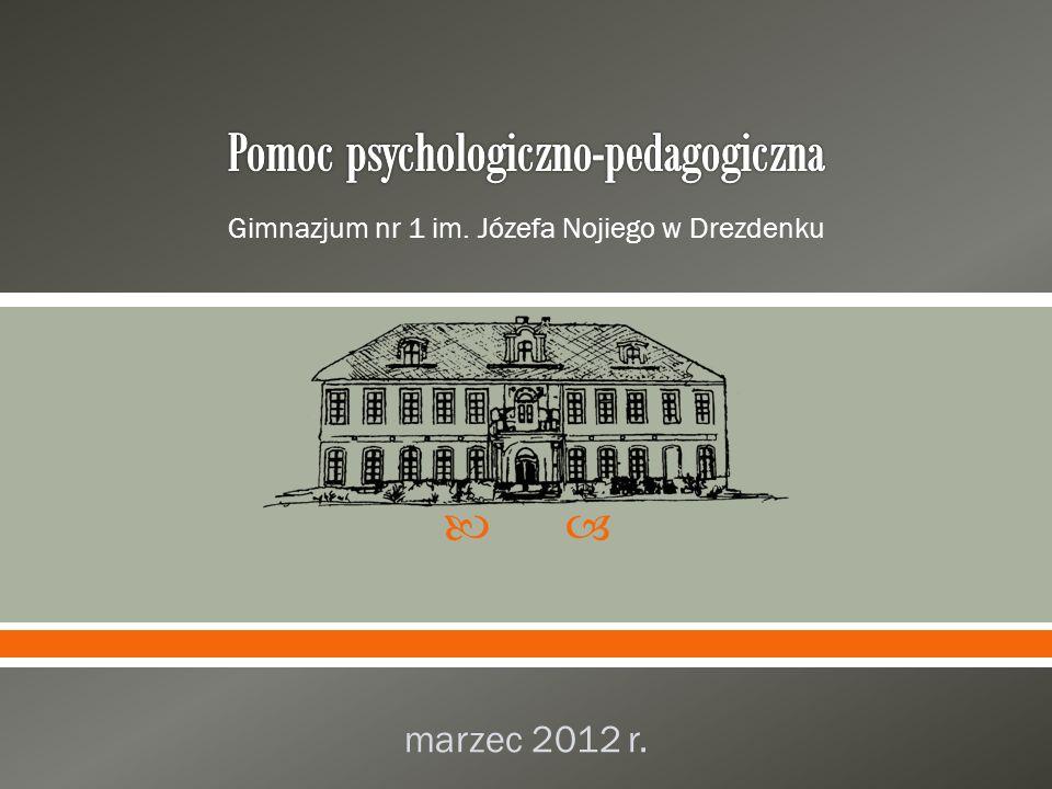 Gimnazjum nr 1 im. Józefa Nojiego w Drezdenku marzec 2012 r.