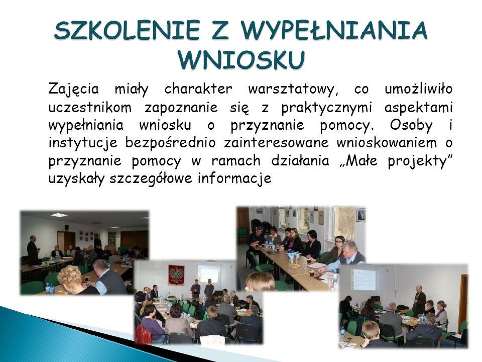 Zajęcia miały charakter warsztatowy, co umożliwiło uczestnikom zapoznanie się z praktycznymi aspektami wypełniania wniosku o przyznanie pomocy.