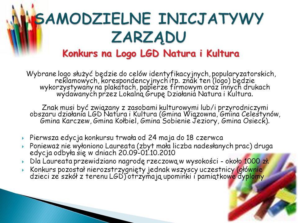 Konkurs na Logo LGD Natura i Kultura Wybrane logo służyć będzie do celów identyfikacyjnych, popularyzatorskich, reklamowych, korespondencyjnych itp.
