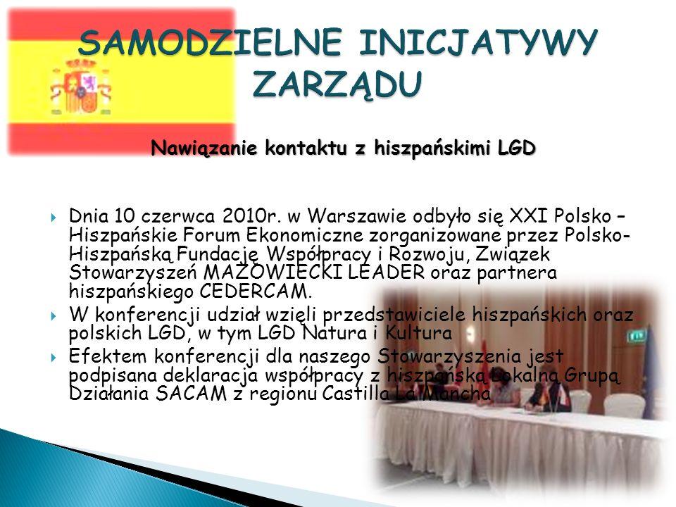 Nawiązanie kontaktu z hiszpańskimi LGD Dnia 10 czerwca 2010r.