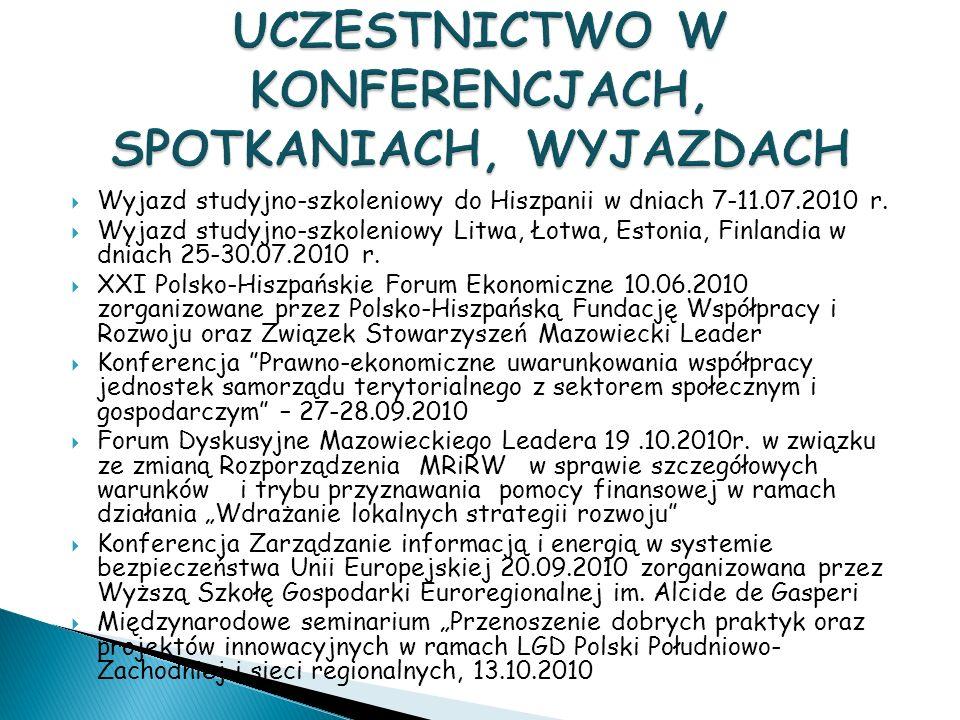 Wyjazd studyjno-szkoleniowy do Hiszpanii w dniach 7-11.07.2010 r.