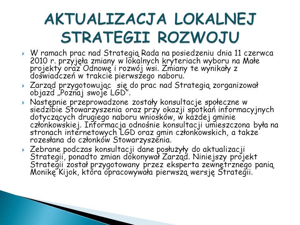 W ramach prac nad Strategią Rada na posiedzeniu dnia 11 czerwca 2010 r.