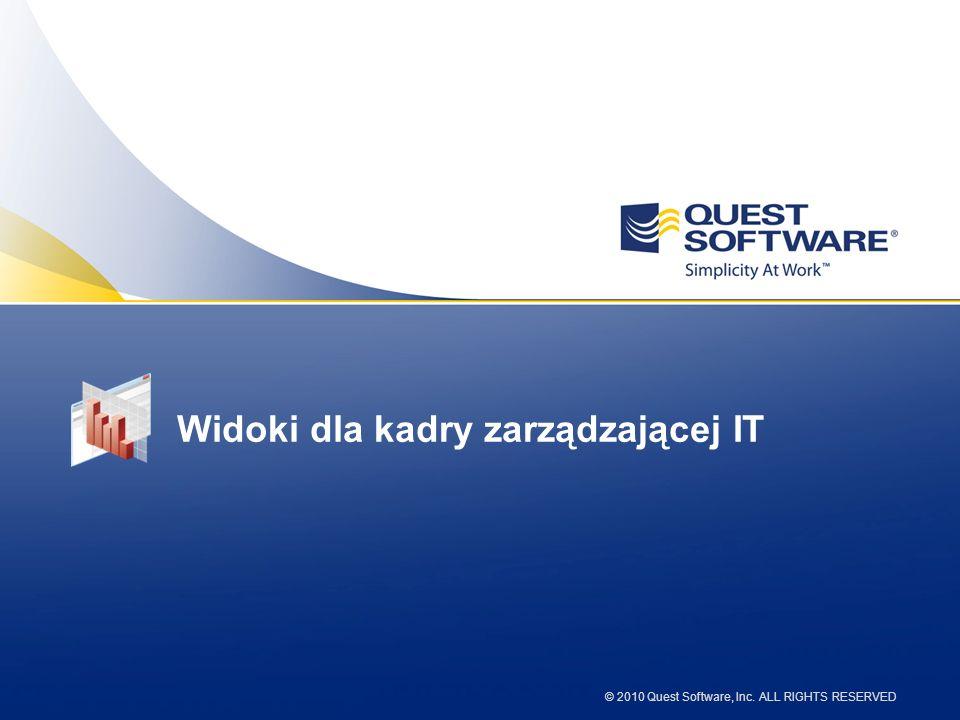 © 2010 Quest Software, Inc. ALL RIGHTS RESERVED Widoki dla kadry zarządzającej IT