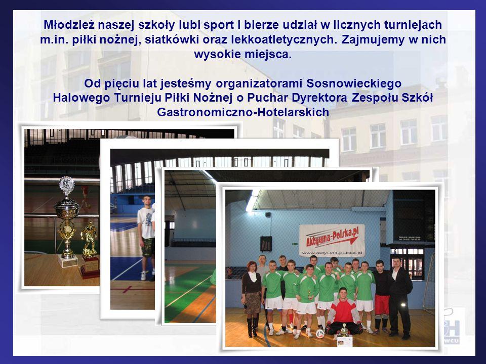 Młodzież naszej szkoły lubi sport i bierze udział w licznych turniejach m.in. piłki nożnej, siatkówki oraz lekkoatletycznych. Zajmujemy w nich wysokie