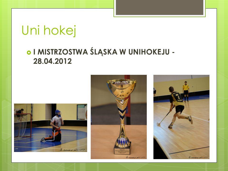Uni hokej I MISTRZOSTWA ŚLĄSKA W UNIHOKEJU - 28.04.2012