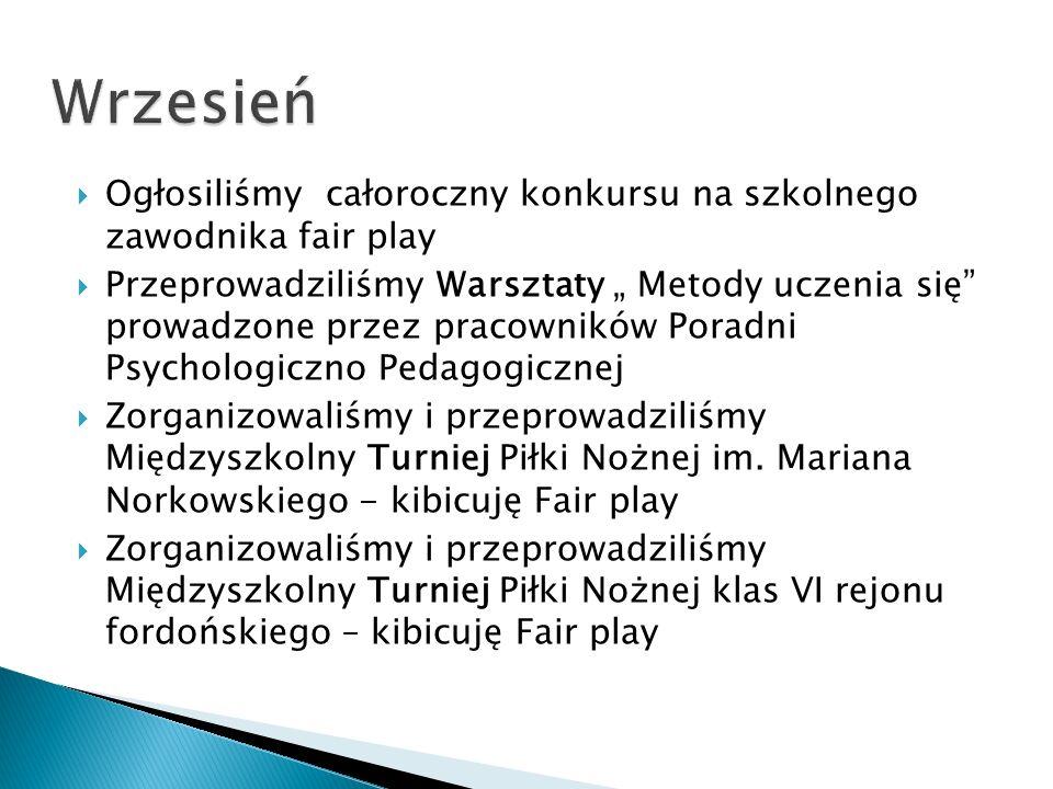Październik – Maj- Czerwiec Miting lekkoatletyczny – kategoria Szkoła Podstawowa