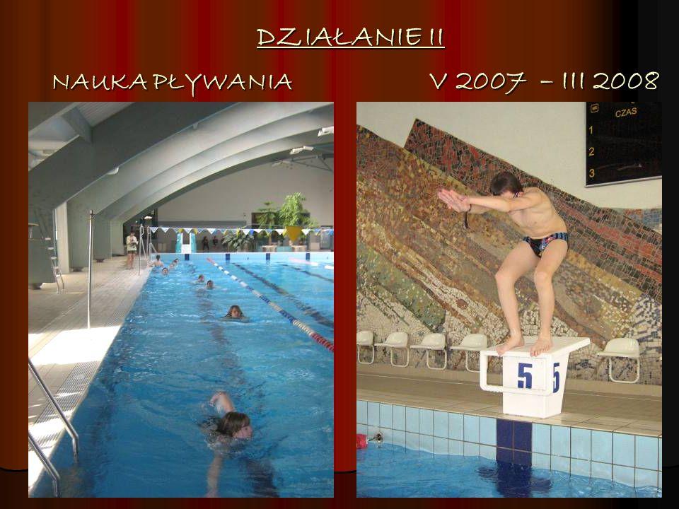 DZIAŁANIE II NAUKA PŁYWANIA V 2007 – III 2008
