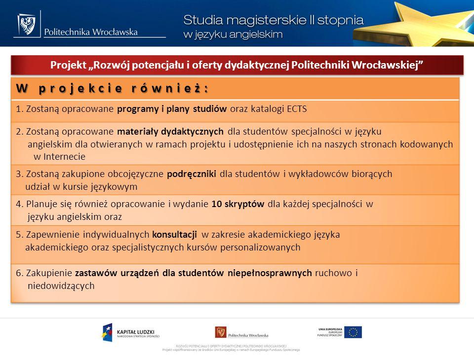 Projekt Rozwój potencjału i oferty dydaktycznej Politechniki Wrocławskiej