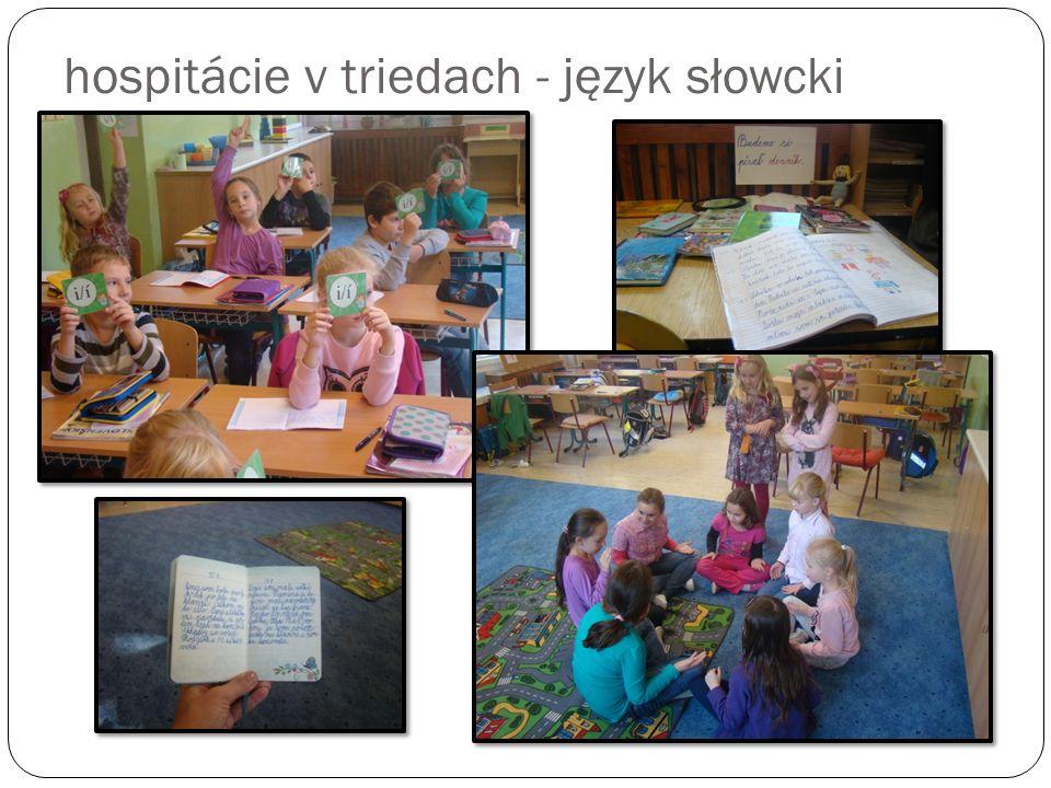 hospitácie v triedach - język słowcki