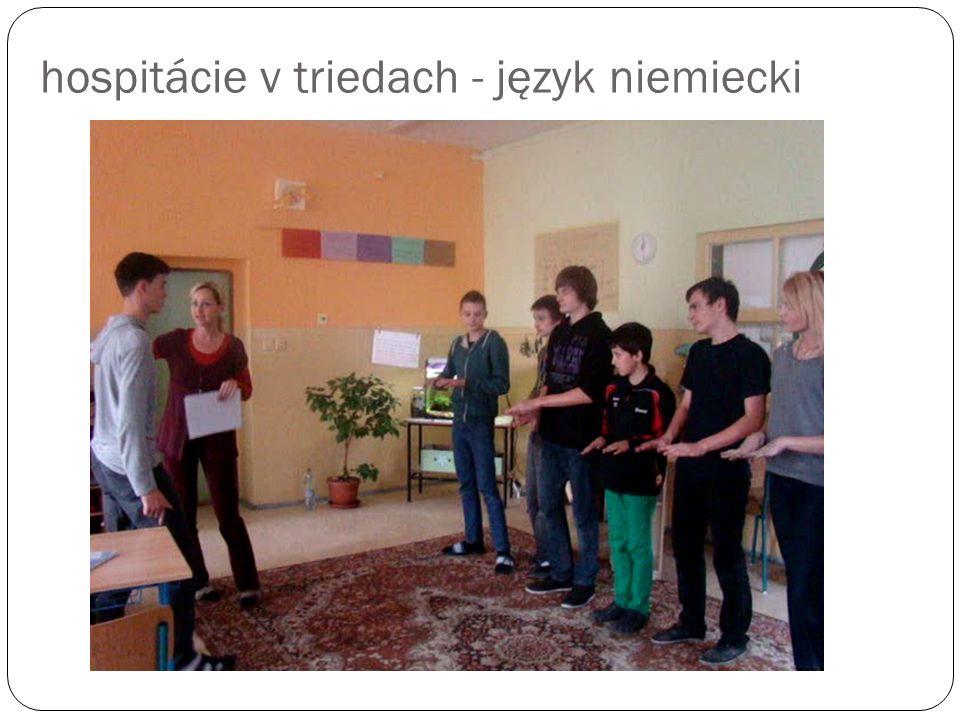 hospitácie v triedach - język niemiecki