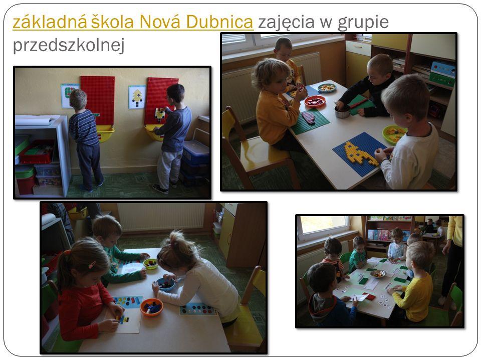 základná škola Nová Dubnicazákladná škola Nová Dubnica zajęcia w grupie przedszkolnej