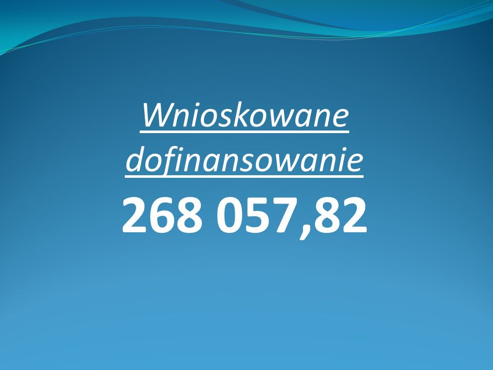 Wnioskowane dofinansowanie 268 057,82