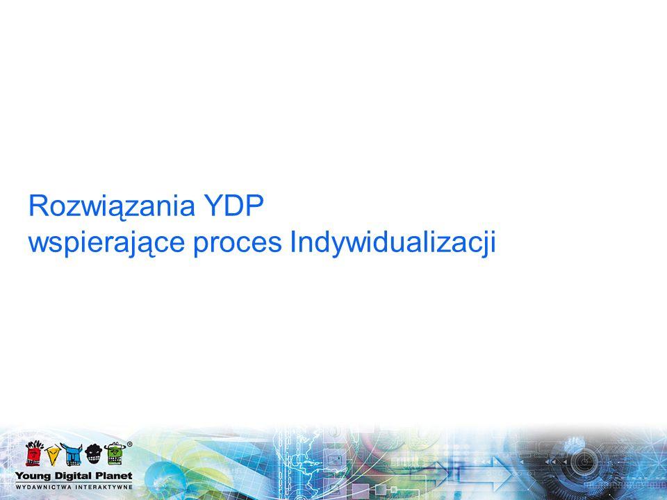 Rozwiązania YDP wspierające proces Indywidualizacji