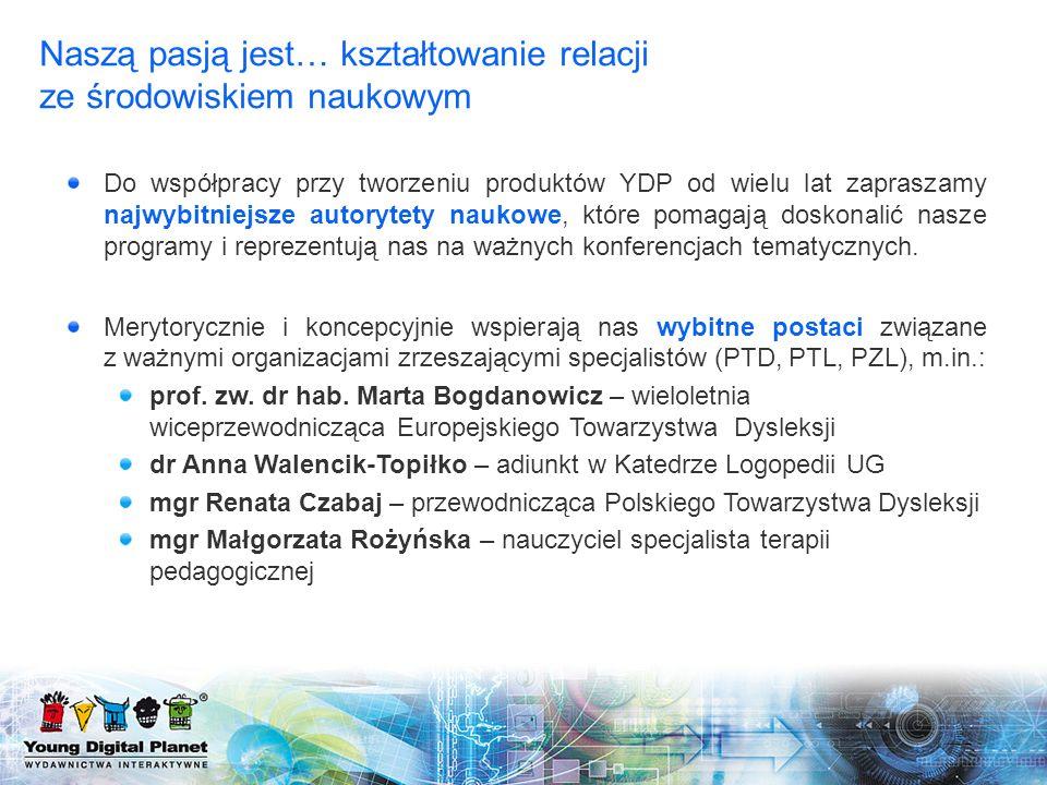 eduSensus Dysleksja: Przewodnicząca Zespołu Autorów – prof.