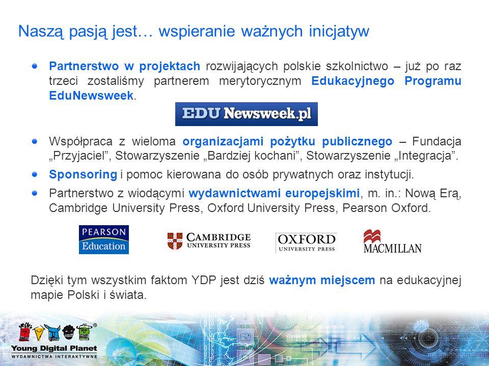 Naszą pasją jest… wspieranie ważnych inicjatyw Partnerstwo w projektach rozwijających polskie szkolnictwo – już po raz trzeci zostaliśmy partnerem mer