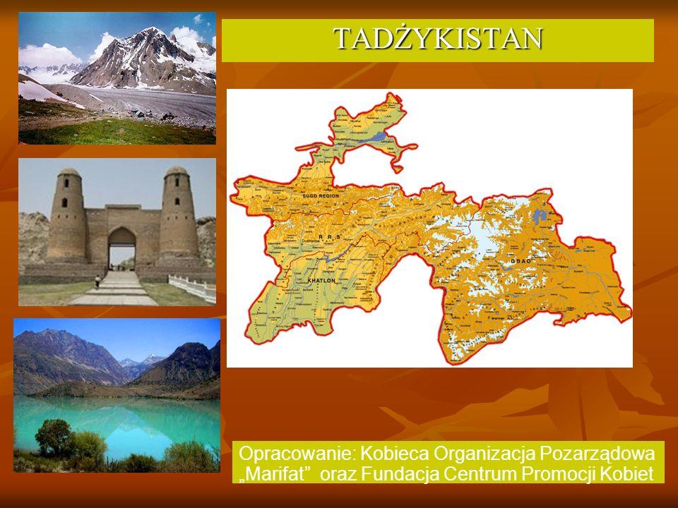Informacje ogólne Republika Tadżykistan – państwo na południowym wschodzie Azji Środkowej, w oddali od mórz i oceanów.