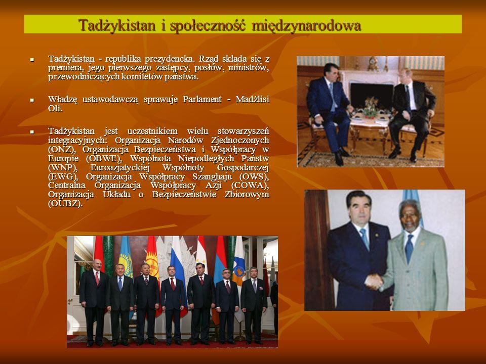 Tadżykistan - republika prezydencka.