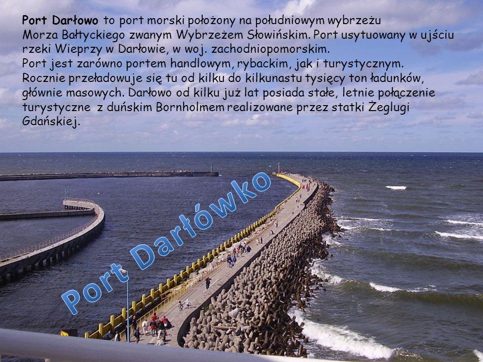 Port Darłowo to port morski położony na południowym wybrzeżu Morza Bałtyckiego zwanym Wybrzeżem Słowińskim. Port usytuowany w ujściu rzeki Wieprzy w D