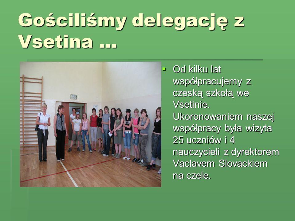 Gościliśmy delegację z Vsetina … Od kilku lat współpracujemy z czeską szkołą we Vsetinie.