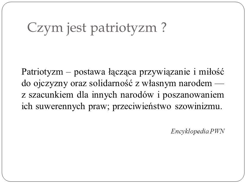 Czym jest patriotyzm .