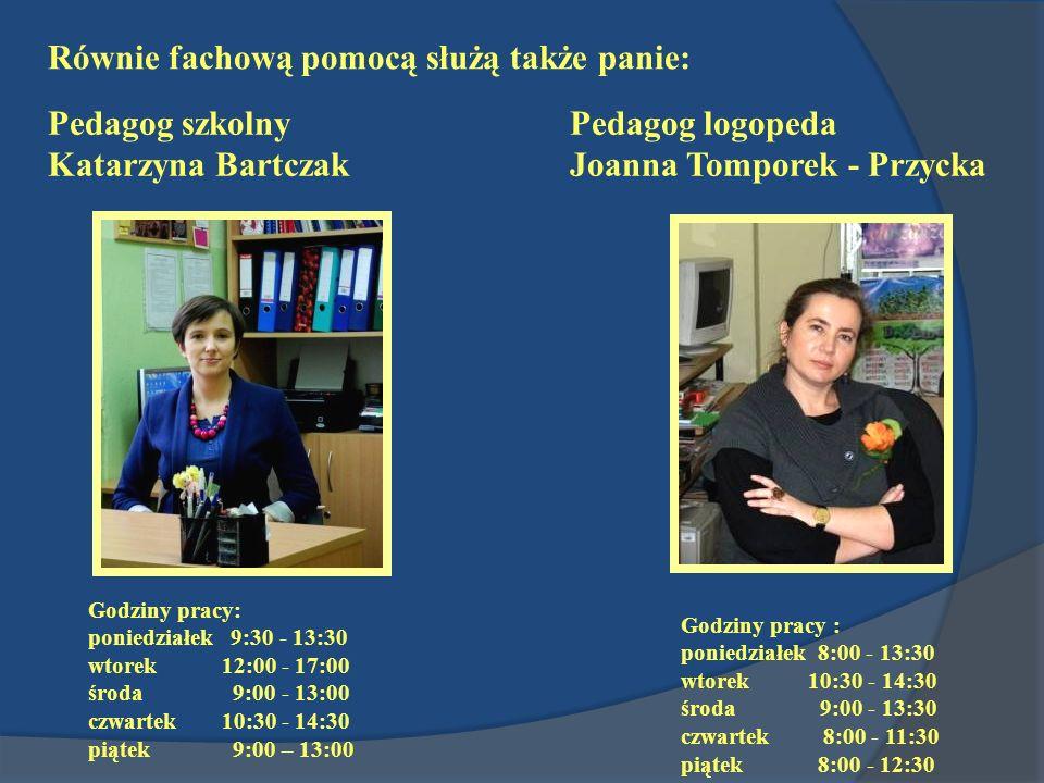 Godziny pracy: poniedziałek 9:30 - 13:30 wtorek 12:00 - 17:00 środa 9:00 - 13:00 czwartek 10:30 - 14:30 piątek 9:00 – 13:00 Godziny pracy : poniedział